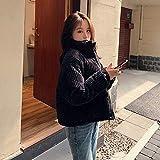 XYZMDJ Algodón Corduroy abrigo mujer 2020 invierno espesado cálido hip- hop chaqueta corta mujer de alta calidad de alta calidad Outwear mujer parkas (Color : F, Size : Medium)