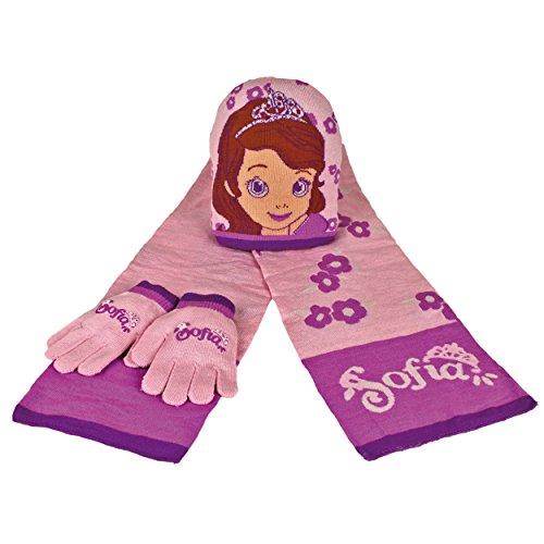 Set bufanda Gorro guantes Princesa Sofia 50-52