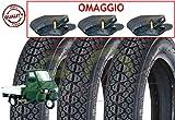 Union EGE10DMU Set 3 Pneumatici 100/90-10 + 3 CAMERE d'Aria per Piaggio Ape Scooter Vespa ...