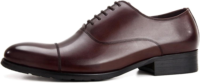 MERRYHE Classique Oxford Hommes Véritable en Cuir à Lacets Chaussures d'affaires Formelle Robe Chaussure pour Le Mariage Party Travail Copains Cadeaux