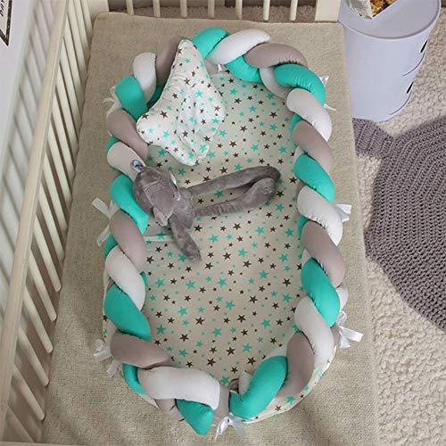 SXFYQ Babybed, opvouwbaar, Bionic design, wasbaar en mobiel, hek, stereo-bescherming, draagbaar, D