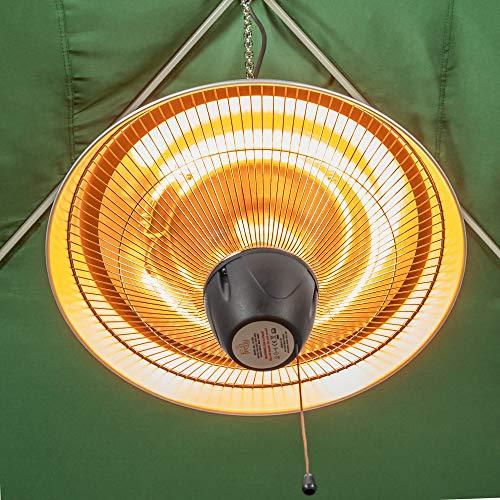 Firefly 1.500 Watt Infrarot-Heizstrahler (Halogen) Terrassenheizung, Deckenmontage, silber - 5