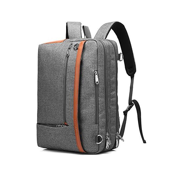 51vb8MnUARL. SS600  - CoolBELL Mochila Convertible en Bolso de Hombro para Guardar Ordenadores portátiles. Maletín de Negocios Mochila de Viaje para Guardar Ordenadores portátiles de 17,3 Pulgadas (Gris)