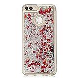 LARPOTE Custodia per Huawei Enjoy 7S/ P Smart Glitter Cover Brillantini Silicone Gel Liqui...