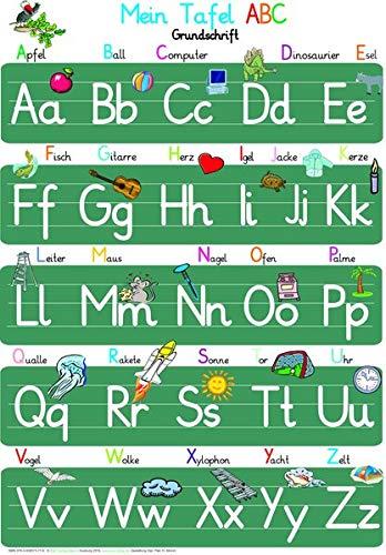 Mein Tafel ABC in Grundschrift: ABC-Lernposter, glänzend, 300g, 32 x 46 cm