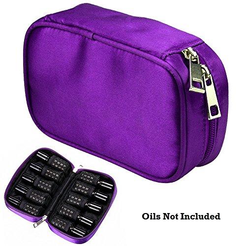 Huiles Case Bag 10 Bouteilles Voyage Huiles Sac Protecteur Huiles Essentielles Titulaire Portable Sac pour Huiles Contient 5 ml, 10 ml, 15 ml (Huiles Non Incluses)