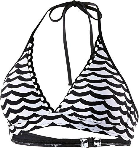 Seafolly Damen Tidal Wave Neckholder BH Bikini Top Badeanzug - Schwarz - 38