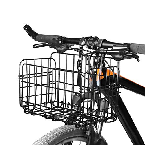 Check Out This Foldable Bicycle Basket with Wire Mesh,Multi Purpose Bicycle Handlebar Basket for Mou...