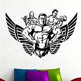 Tianpengyuanshuai Patrón de Hombre musculoso Etiqueta de la Pared decoración del Gimnasio Etiqueta de la Pared de Vinilo extraíble Autoadhesivo 30X20cm