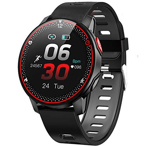 FZXL R18 Sports Smart Watch 1.3 Pulgadas IP68 IP68 A Prueba De Agua Bluetooth 5.0 Pedómetro De Ritmo Cardíaco Monitoreo del Sueño Pulsera Deportiva,A