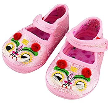 CRB Baby Boy Girl Newborn Infant Chinese Asian Lion Shoe  Pink