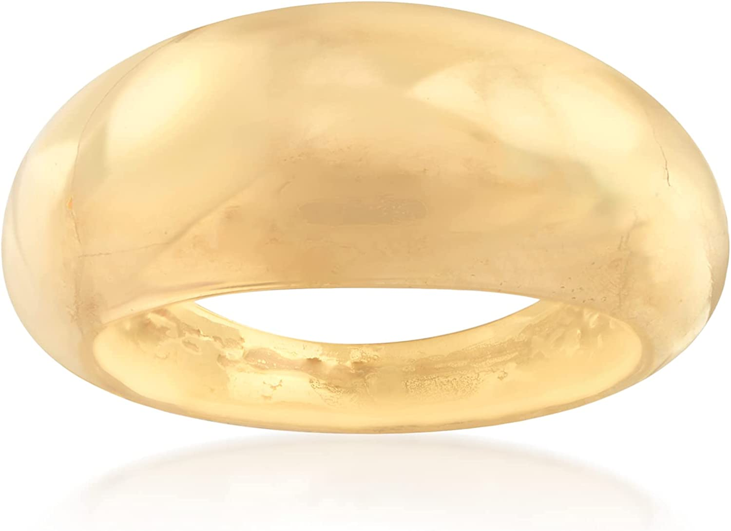 Ross-Simons Italian 18kt Yellow Gold Small Dome Ring