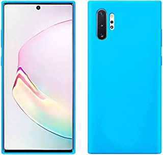 Matte Plastic Flexible Protection Cover, Smooth, Soft TPU Case for Samsung Galaxy Note 10 Plus (Sky Blue)