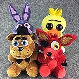 dingtian Jouet en Peluche 4 Pcs / Ensemble Kawaii en Peluche en Peluche Animal Foxy Enfants Jouets Poupée