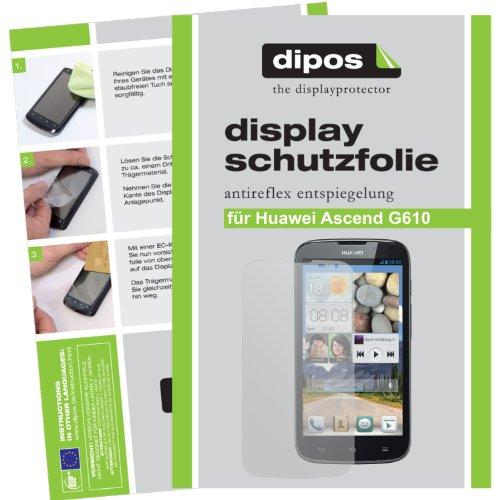 dipos I 2X Schutzfolie matt kompatibel mit Huawei Ascend G610 Folie Bildschirmschutzfolie
