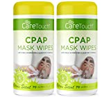 Care Touch CPAP Mask Cleaning Wipes - Scented   2 Packs of 70 Scented Cleaning Wipes for CPAP Masks (140 Total)   Made in The USA
