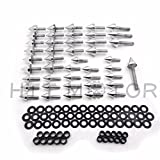 HTTMT MT215-008- Silver Spike Fairing Bolts Compatible with 1999-2000 CBR 600 F4 2001-2007 Cbr600 F4I