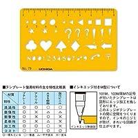 ウチダ テンプレート No.79 カードサイズ定規 1-843-0079
