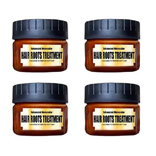 Momola Traitement Anti-moussant Capillaire Advanced Hair Roots Mask Recover - renforce Les follicules pileux, Rend Les Cheveux faciles à coiffer Élastique Ultra-Doux, faciles à Nettoyer (4PCs)