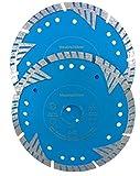 WERKMAX, set di dischi diamantati per fessure per muri, diametro 150 mm, ultra aggressivi, per fresatrici a fessure per muri, 2 pezzi