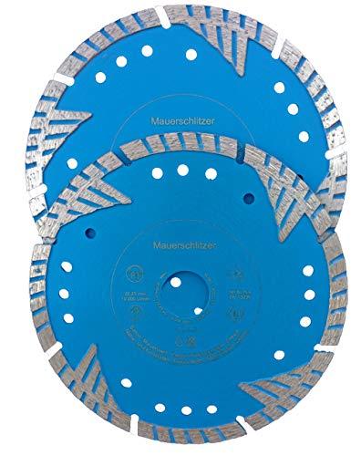 WERKMAX Diamantscheiben Mauerschlitz SET Ø 150mm ultra aggressiv - für Mauernutfräse/Mauerschlitzfräse 2-Stck.