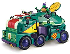 2-in-1 vehicle goes from Turtle Tank Mobile Ops Unit to a Playset Donnie's removable lab raises up, turns 360 degrees, and does much more, plus it is removable to fit on to the Epic Sewer Lair Playset (sold separately) Flip open front cab for easy en...