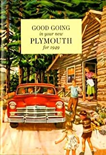 1949 Plymouth Owners Manual 49 Special and Deluxe P17 P18 Owner Guide Book