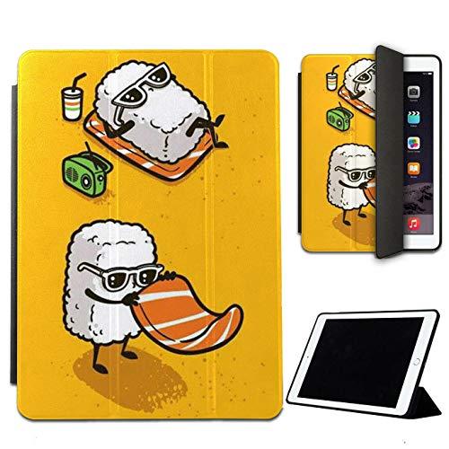 Mixroom - Custodia Cover Protettiva per Samsung Galaxy Tablet Tab S4 T835 10.5' Pieghevole in Ecopelle e TPU con Supporto Funzione Stand Fantasia Coppia di Sushi LN594