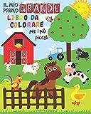 Il Mio Primo Grande Libro da Colorare Per i Più Piccoli: Animali da colorare per i più piccoli | Libro da colorare per bambini di 1-3 anni | Un bel libro di attività per i più piccoli