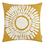 HWY 50 Yellow Decorative Throw Pillow Covers 18x18...