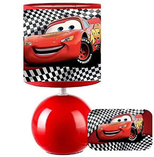 PRESENT Lampe de chevet CARS 95 - LIGHTNING MCQUEEN création artisanale N° 3. (produit Français)