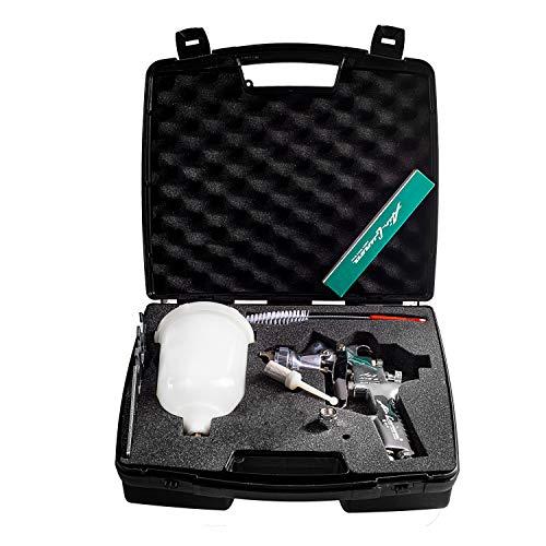 Airgunsa AZ3 HTE2 1.3mm und 1.5mm Düse im Benbow Master-Kit Koffer mit Reinigungsset, Pistolenschlüssel und Steckfilter 12-teilig