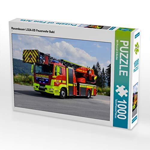 CALVENDO Puzzle Rosenbauer L32A-XS Feuerwehr Suhl 1000 Teile Lege-Größe 64 x 48 cm Foto-Puzzle Bild von M. Heinz
