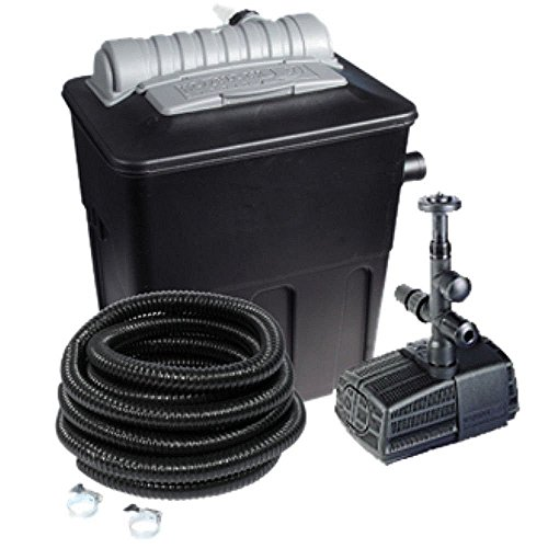 Hozelock 1870 Ecopower Combi Kit 6000 ltr. Teichfilter und Pumpe, schwarz