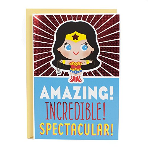 Hallmark Birthday Card for Kids with Sound (Wonder Woman)
