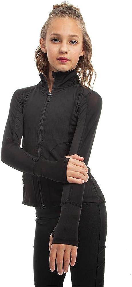 Move U Full Zip Active wear Mesh Panel Jacket for Girls