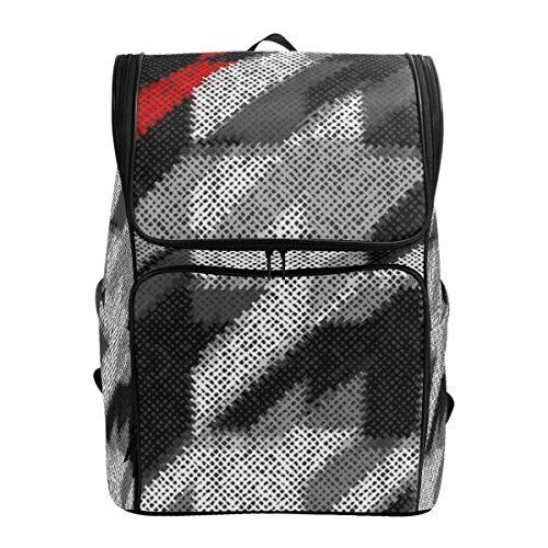 LISNIANY Rucksack,Imitation Textur grobe Leinwand,Computertasche,Schultasche,große Kapazität