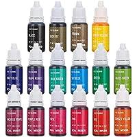 Jim's Stores Set de Colorante 16*11ml,Colorante Alimentario Alta Concentración Liquid Set para Colorear los Bebidas Pasteles Galletas Macaron Fondant