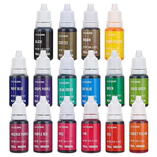 Jim's Stores Set de Colorante 16*11ml,Colorante