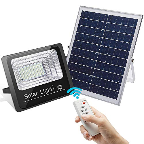 100W Led Solar Flood Light, Outdoor Dusk to...