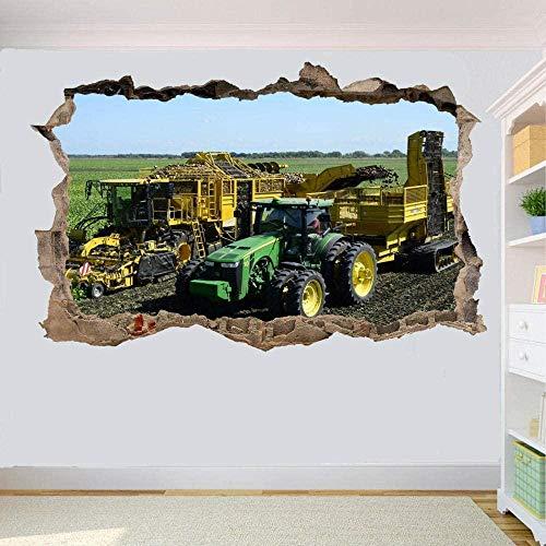Potato Harvester Tractor Wall Sticker 3D Art Mural Room Office Poster Decoration