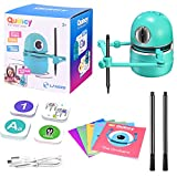 ETE ETMATE Robot Artist, Educational Robot Intelligent Learning Toy Suit USB Rechargeable Educational Smart Robot Toy Interactive Kids Learning Partner for Kids Include 4 Books/64 Cards/2 Pens