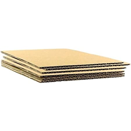Corrugated Cardboard Sheets Shipping Cushioning Pads 1//8 Thick HGP 9 x 12 5 pack