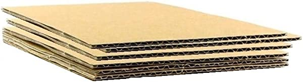 HGP 6 X 9 150 Pack Corrugated Cardboard Sheets Shipping Cushioning Pads 1 8 Thick