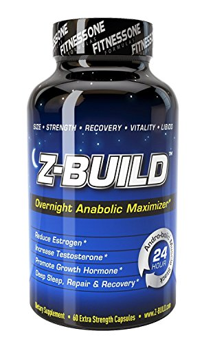 Z-BUILD--OVERNIGHT ANABOLIC MUSCLE BUILDER--60 Capsules: Scientifically designed to promote deeper sleep while maximizing both anabolic muscle support through increased testosterone levels, reduced estrogen, and elevated Growth Hormone release
