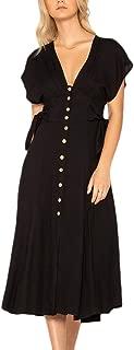 Miss Me Women's Button Front Midi Dress