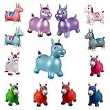 netproshop Kleinkind Spielzeug Hopser Hüpfpferd aus Gummi, Farbe:Dunkelrosa