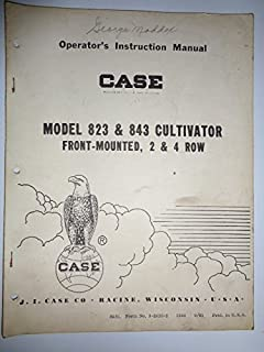 Case 823 & 843 Two & Four Row Front Mounted Cultivator Operators Owners Manual Original 9-2035-2