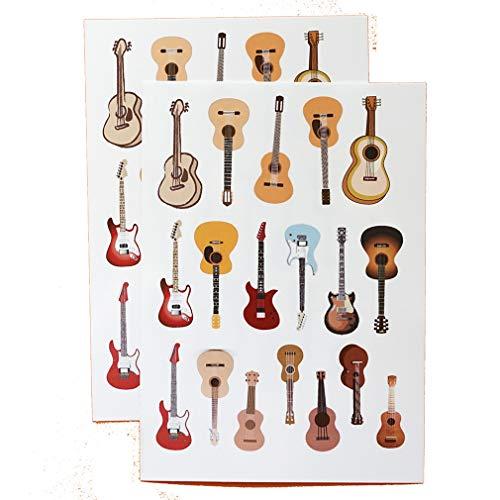 透明シール ギター&ウクレレ(A6判×2枚)