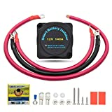 12V 140A Dual Battery Isolator with Wiring Cable Kit -VSR Voltage Sensitive Relay Compatible with SUV Boat ATV UTV RV Truck-Double Battery Automatic Charger